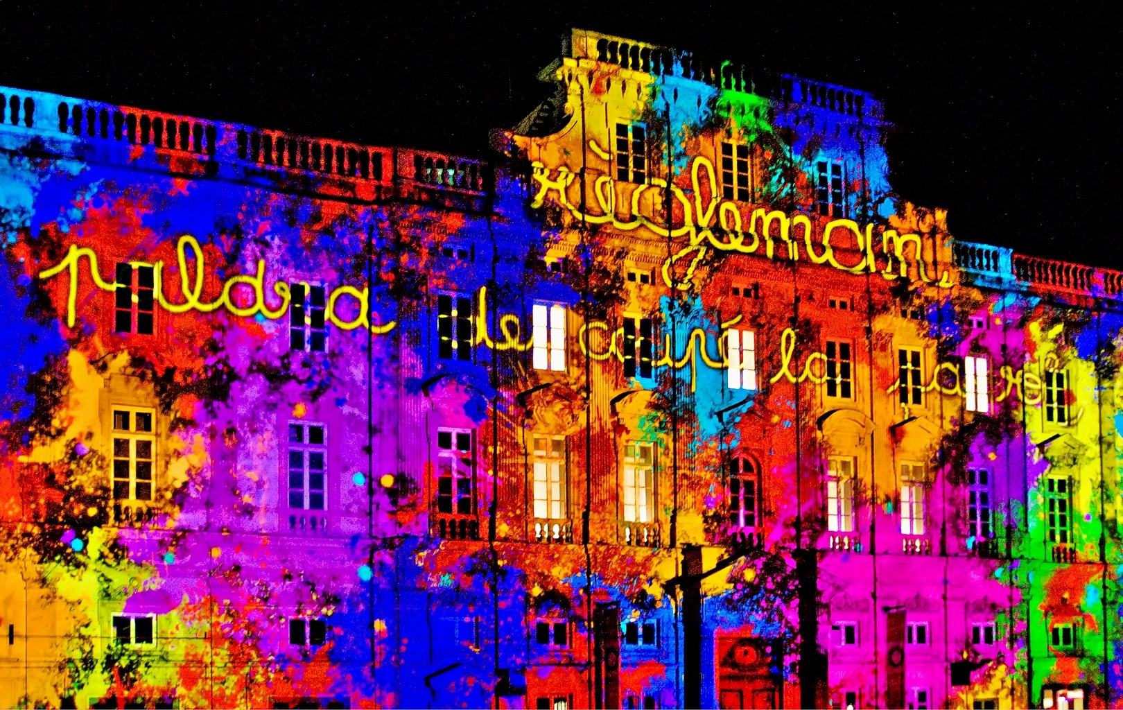 Lyon Festival Of Light - dramatic lighting
