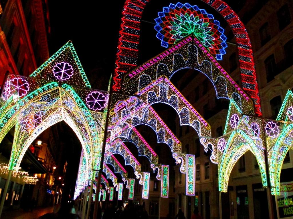 Lyon Festival Of Light - street view