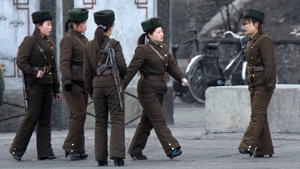 North Korea - Army Girls