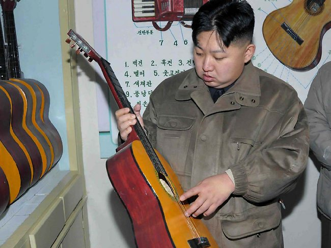 North Korea - Kim Jong un Guitar