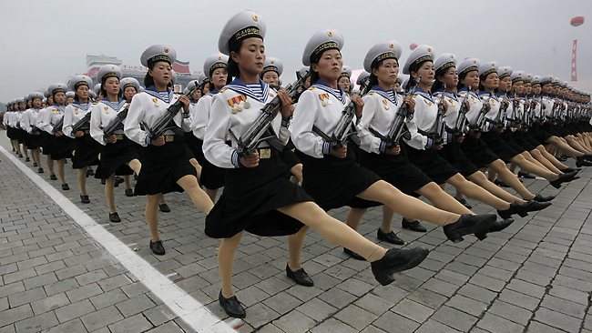 North Korea - Young Women Troops