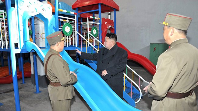 North Korea - inspecting slide