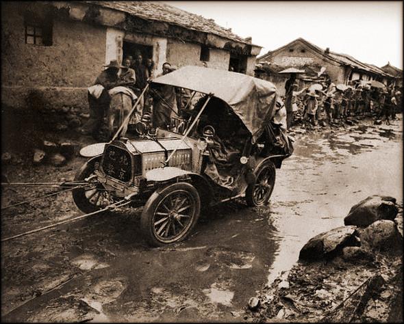 Old Photos Of China - Peking To Paris Autorace 1907
