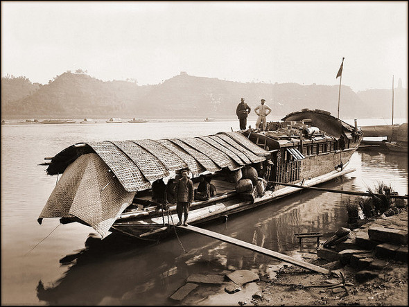 Old Photos Of China - The Harvard Houseboat, Kiating Fu - 1908