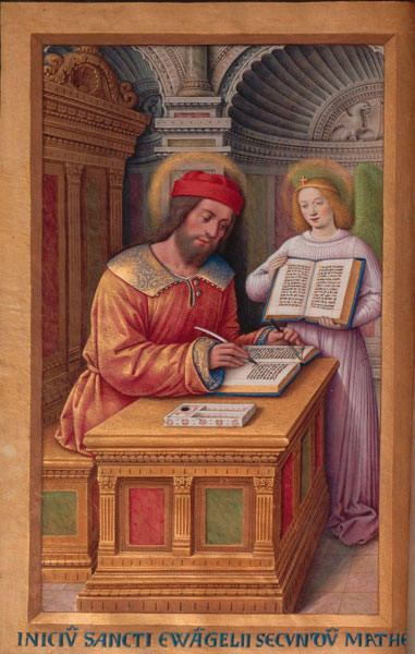 Jean Bourdichon - Grande Heures - Saint Matthew the Evangelist