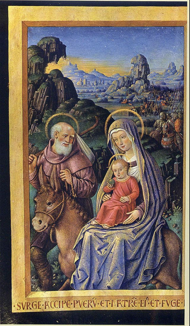Jean Bourdichon - Grande Heures - The Flight into Egypt