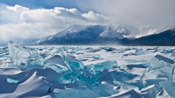Lake Baikal - ice sheets