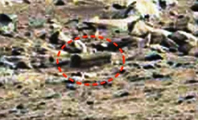 NASA Coffin Found On Mars - close up