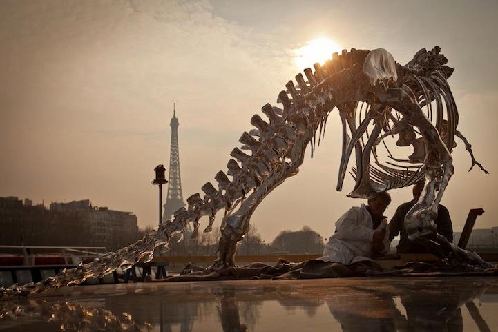 Philippe Pasqua Chrome T-Rex - Eiffel Tower