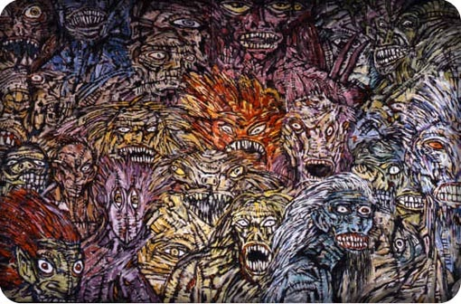 Clive Barker - Paintings - Creatures