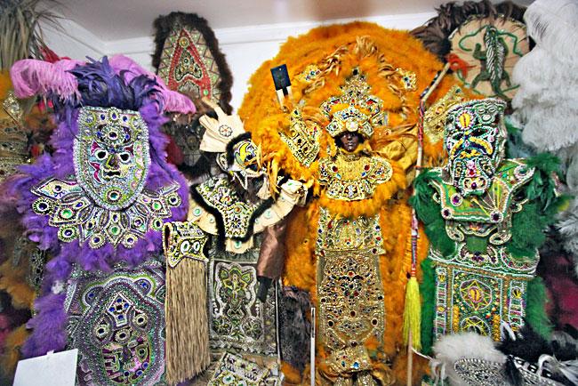 Mardi Gras Indians - big colours