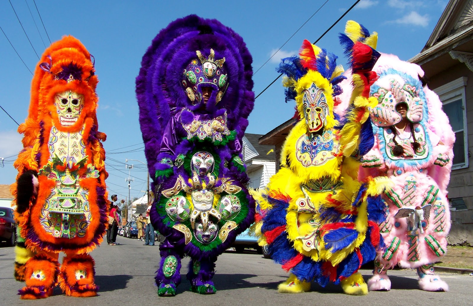 Mardi Gras Indians: Masks And Feathers, Violence To Peace • Lazer ...