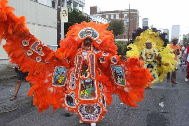 Mardi Gras Indians - orange