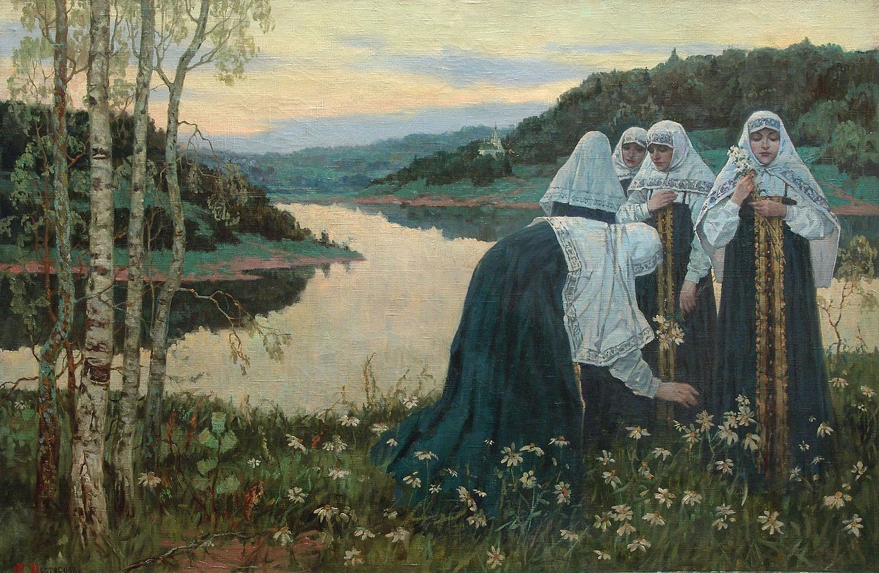 Mikhail Nesterov - Girls on the Banks of the River