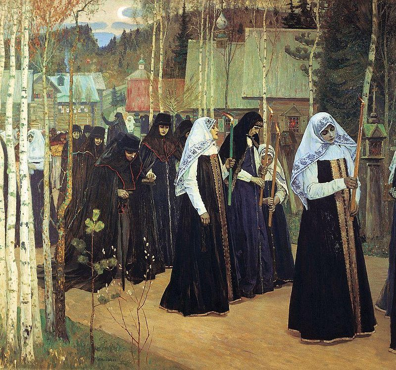 Mikhail Nesterov - Taking the Veil, 1897-98