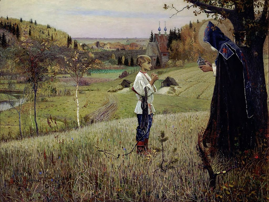 Mikhail Nesterov - The Vision to the Youth Bartholomew, 1889-1890