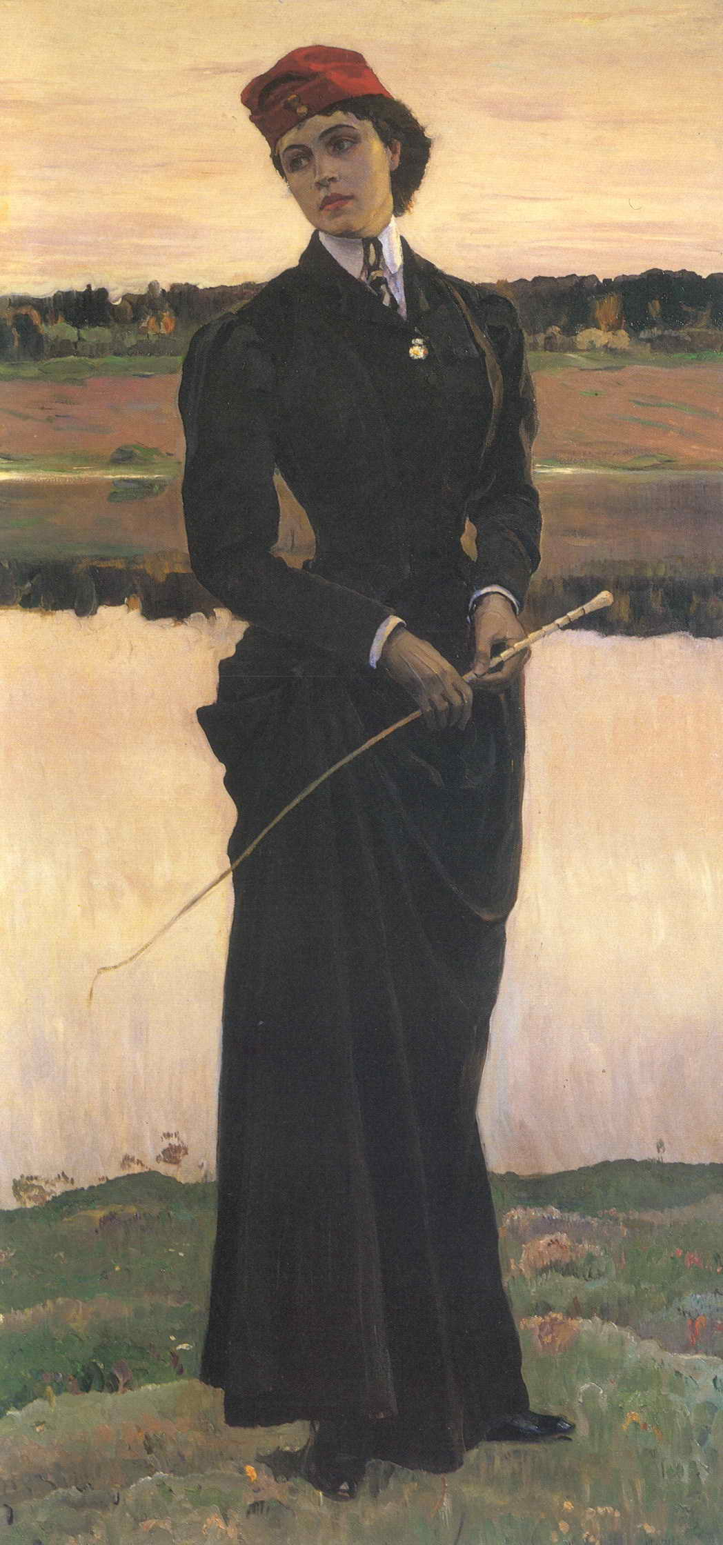 Mikhail Nesterov - Woman in a Riding Habit