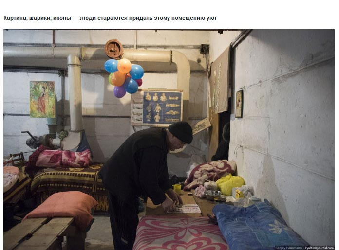 Ukraine Donetsk Daily Life - basement