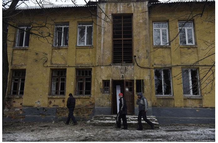 Ukraine Donetsk Daily Life - smashed windows