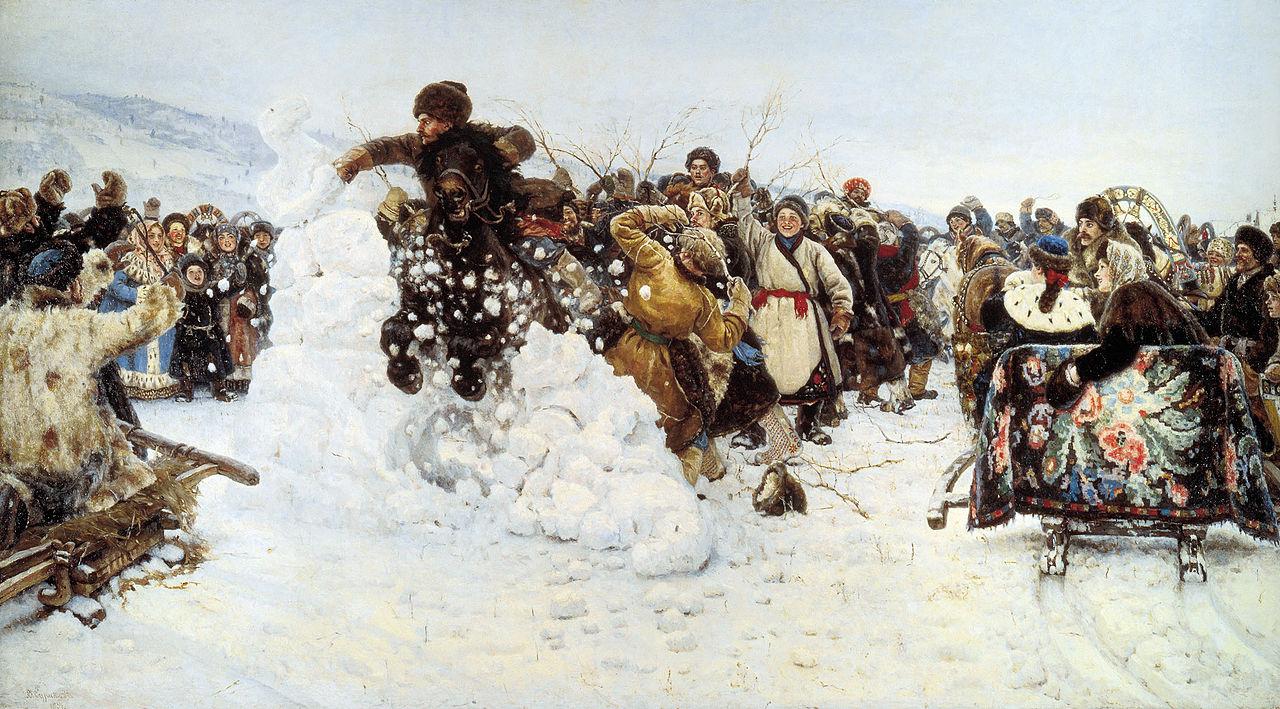 Krasnoyarsk Vasily Surikov - storm of the snow fortress