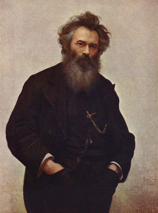 Portrait of Ivan Shishkin, by Ivan Kramskoi