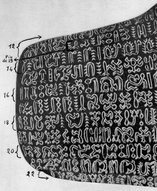 Rongorongo - language glyph script