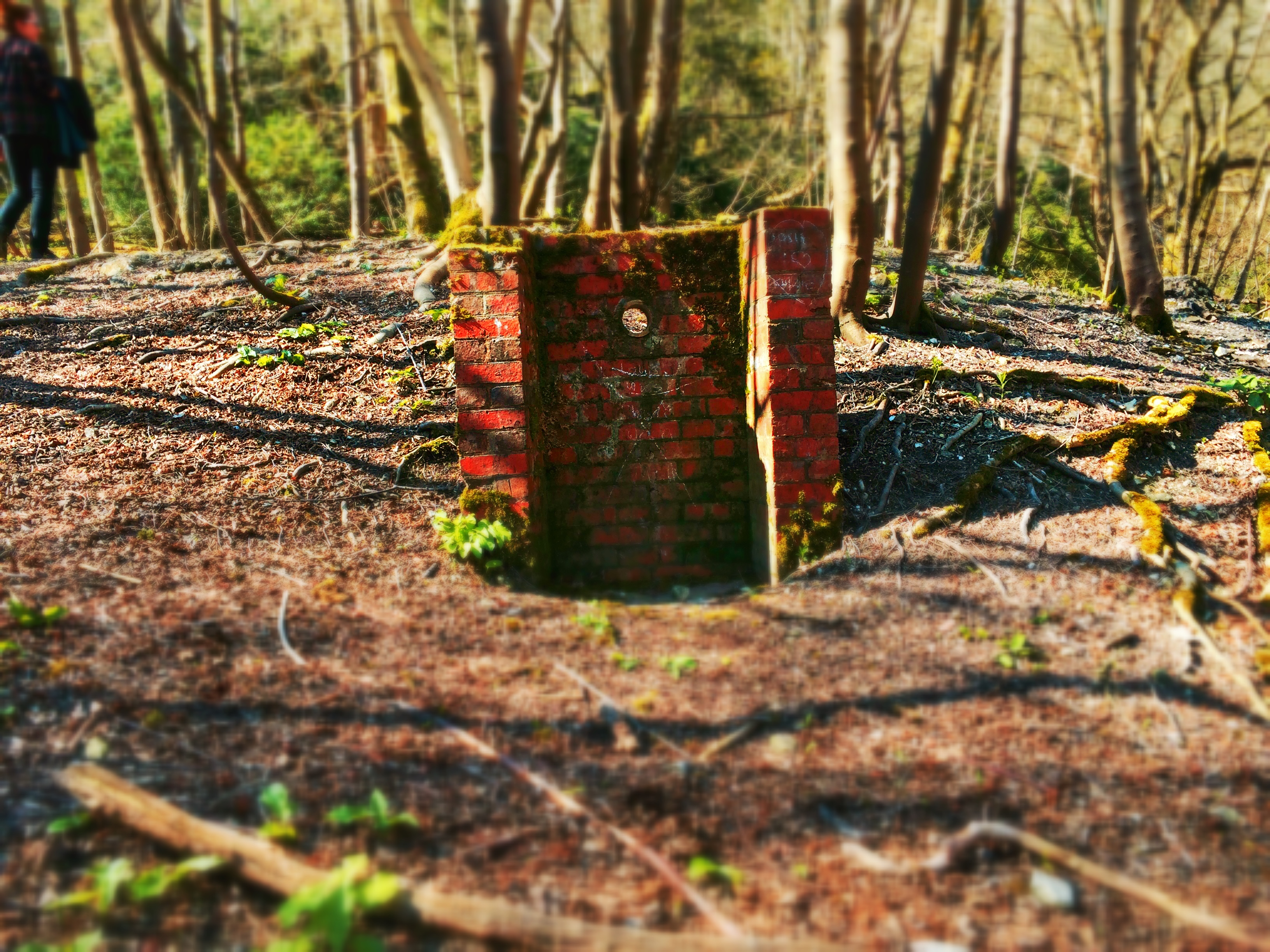 Brick Structure Near Chanctonbury Ring