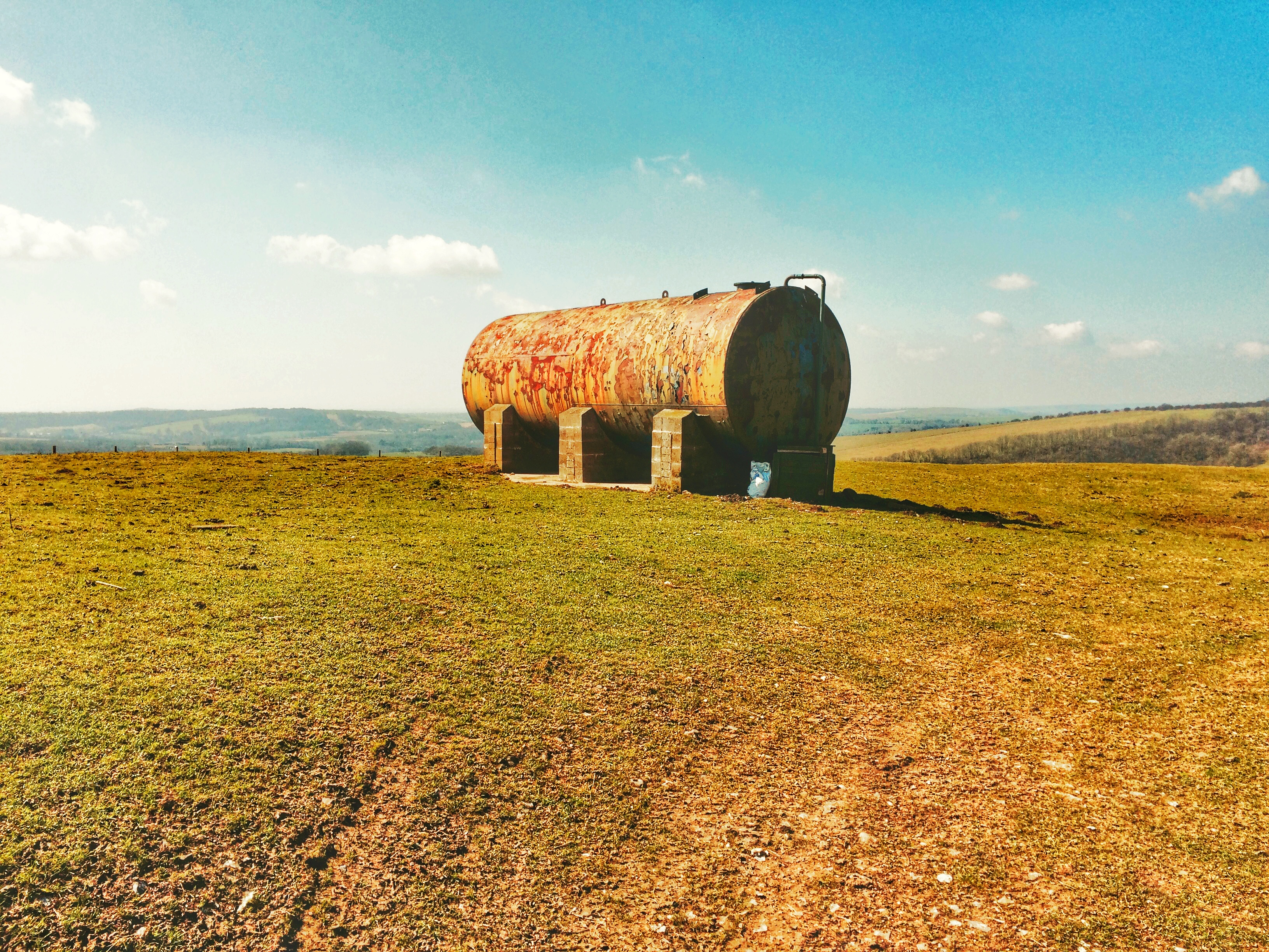 Chanctonbury Ring Oil Tank Near Summit