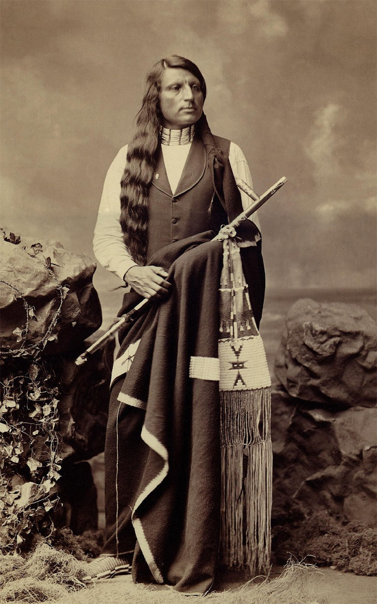 Frank Rinehart - Native American - Long Hair