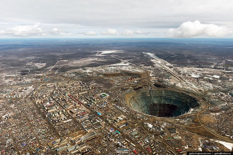 Mir Diamond Mine Yakutia - From The Air