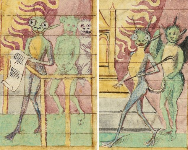 Weird Medieval Art - Aliens - Livres du roi Modus et de la reine Ratio, France, 15th century