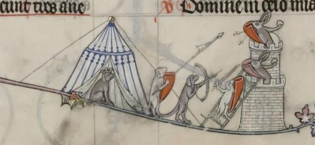 Weird Medieval Art - Breviary of Renaud de Bar, France, 1302-1303 - Rabbits