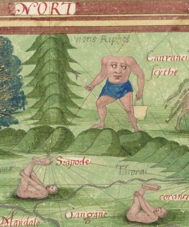 Weird Medieval Art - Donut - Cosmographie universelle, 1555