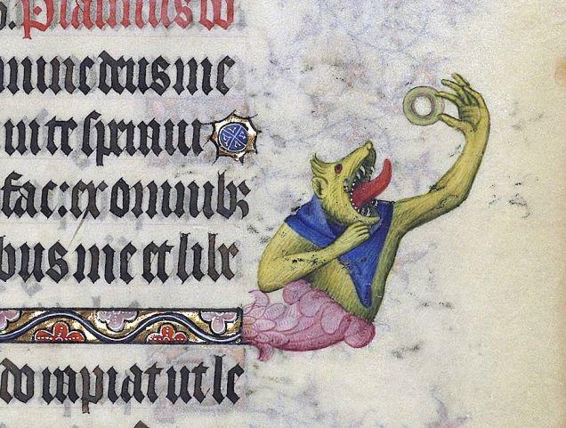 Weird Medieval Art - Donut - Les Grandes Heures du duc de Berry, Paris, 1409