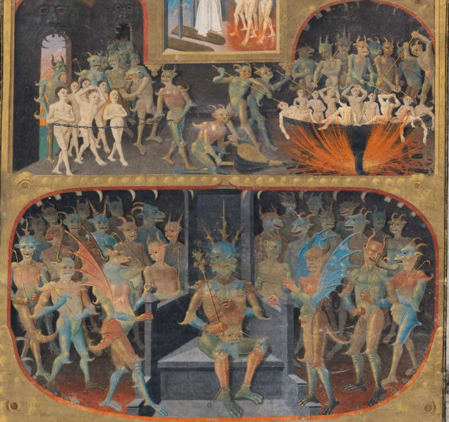 Weird Medieval Art - Histoire de Merlin, by Master of Adelaide of Savoy in Poitiers, around 1450-1455