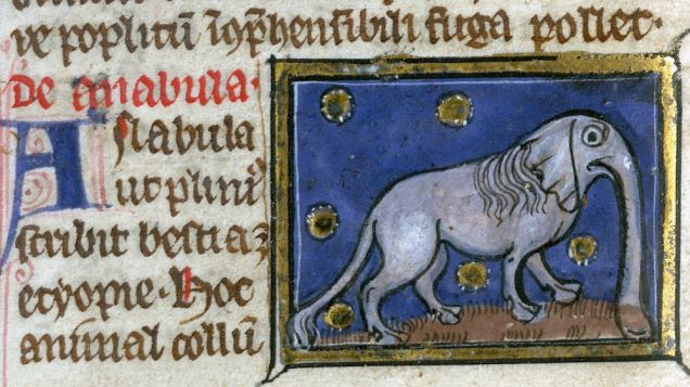 Weird Medieval Art - Liber de nature rerun, France, c. 1290