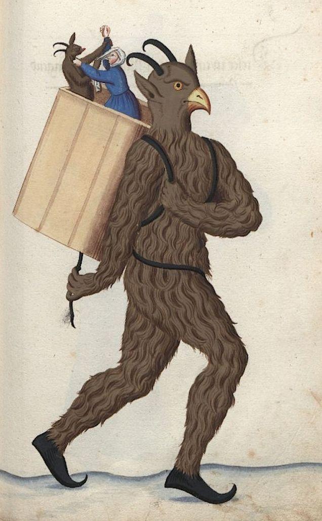 Weird Medieval Art - Nürnberger Schembart-Buch, 17th century