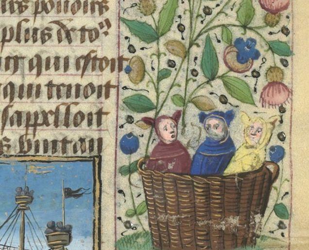 Weird Medieval Art - Teletubbies - Le Livre des hystoires du Mirouer du monde, Paris, 15th century