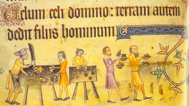Weird Medieval Art - The Luttrell Psalter, 1325-1335 - Angry Chef