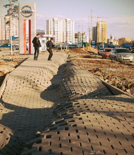 Awesome Russia - Russian Pavement Fail