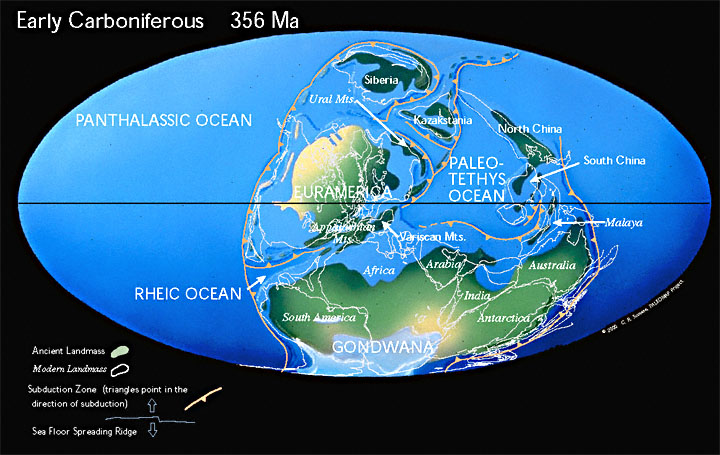 Carboniferous Earth - Continents