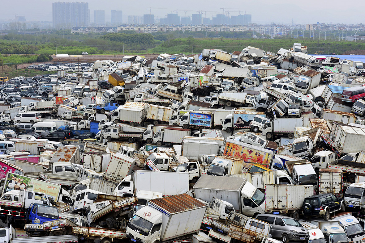 China High Emission Car Graveyard - Lorries