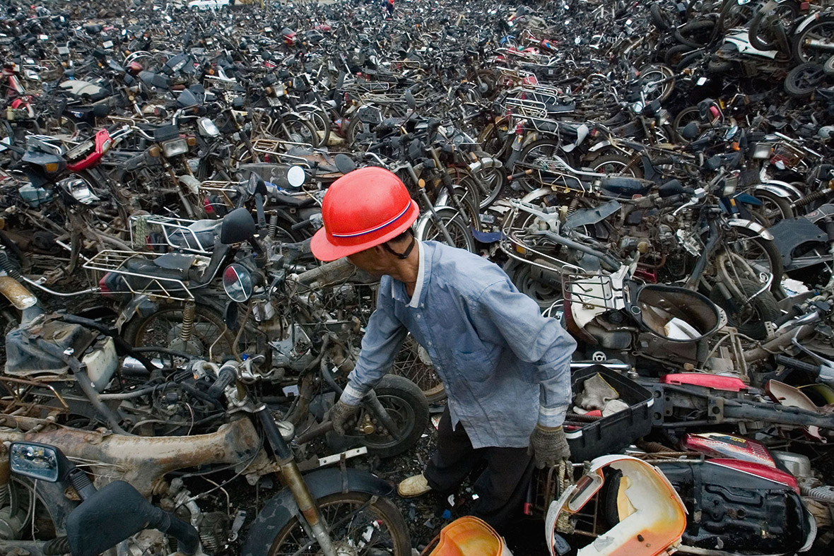 Beijing High Emission Car Graveyard - Motorbike Collection