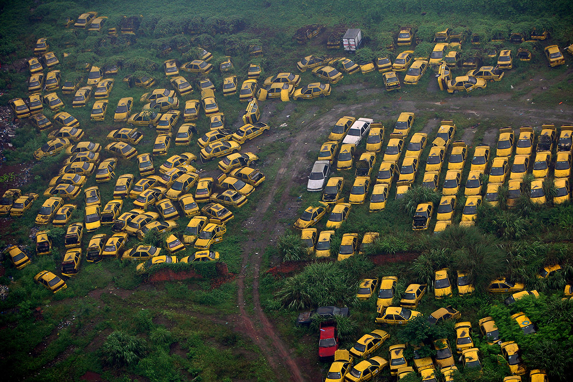 Beijing High Emission Car Graveyard - Yellow Taxis
