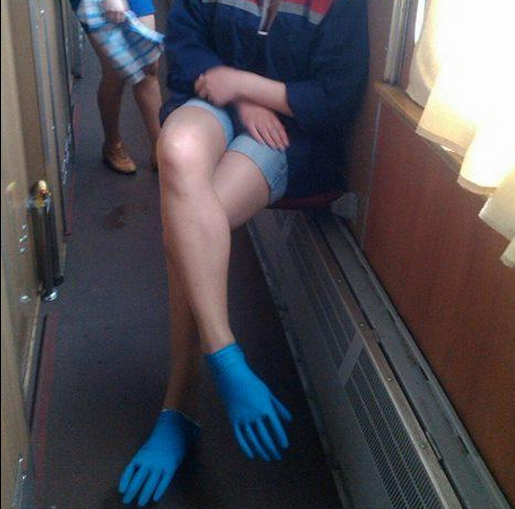 Funny Russian Pictures - Blue Rubber Feet