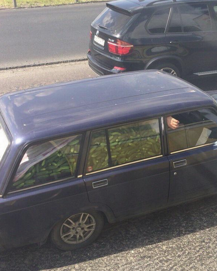 Funny Russian Pictures - Gurkin King Car Full