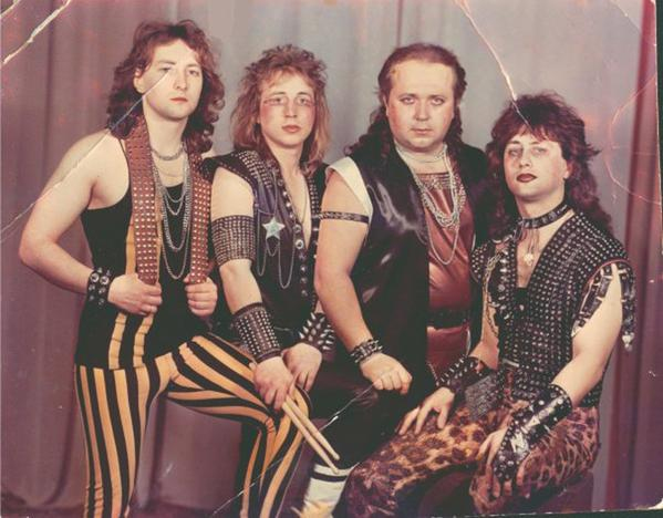 Awesome Photos From Russia With Love - Soviet metal band Suicide Hogs - late 1980s