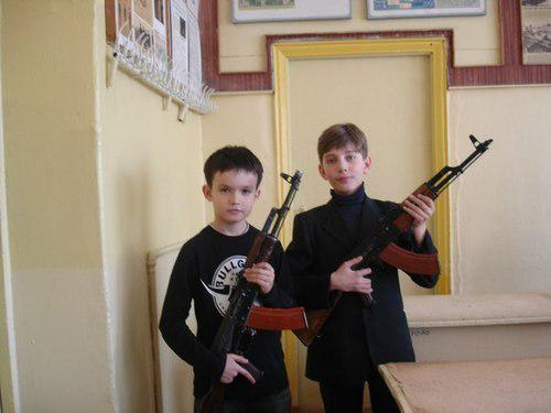 Awesome Photos Russia With Love - Kids With Machine Guns