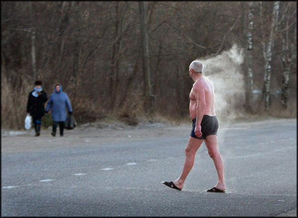 Awesome Photos Russia With Love - Steamin Man In Pants