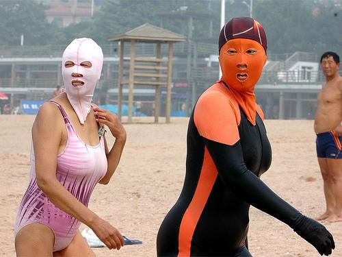 Facekini Qingdao - White and Orange